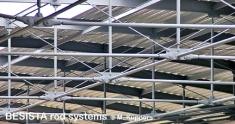 Zugstabsysteme und Druckstabsysteme von BESISTA in der Dachkonstruktion - 304