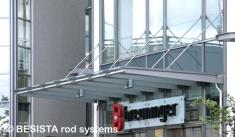 Druckstabsystem BESISTA mit abgedrehten Druckstäben, Breuninger Ludwigsburg - 384