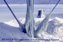 BESISTA Zugstabsysteme aus Zugstäben und Stabanker im Eistest