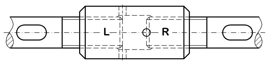 Spannhülsen zum Spannen der Zugstäbe-Zugstangen Zugstabsystem BESISTA