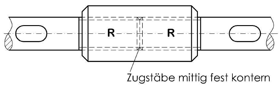Verlängerungshülsen zum Verlängern der Zugstäbe-Zugstangen System BESISTA
