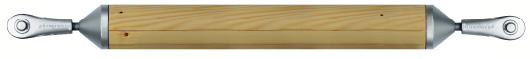 Druckstab aus Holz mit Druckstabanschluss und Stabanker System BESISTA