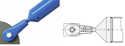 Druckstabanschluss mit Stabanker und Rohr als Druckstab System BESISTA
