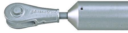 Druckstabsystem BESISTA aus Stahl mit zweiteiligem Druckstabanschluss