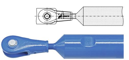 Druckstabsystem BESISTA mit Stabanker und abgedrehtem Druckstab aus Stahl