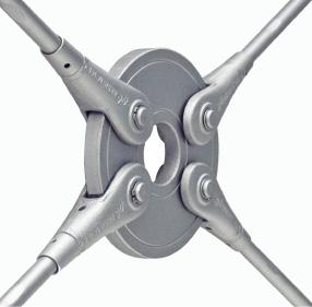 Kreisscheibe System BESISTA aus Stahl mit Stabanker und Zugstäben