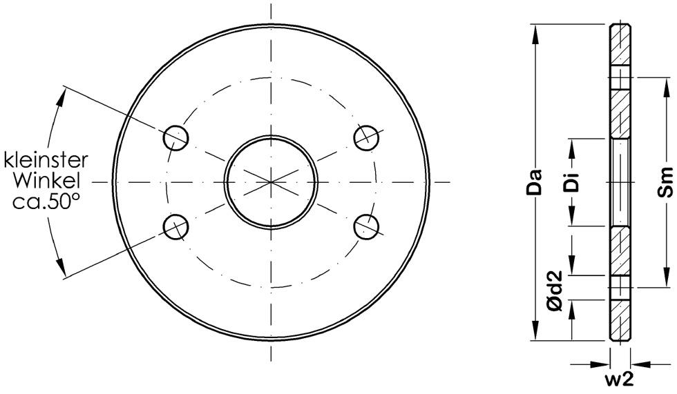 Kreisscheibe für Windverbände und Aussteifungen im Stahlbau System BESISTA