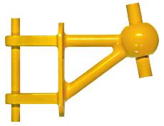 Modell vom Sonderanker für Zugstab-Zugglied von BESISTA Sonderelemente