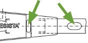Stabanker-Gabelköpfe System BESISTA mit Schlüsselflächen zum Spannen der Zugstäbe