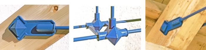 Spezielle BESISTA-Stabanker mit Zugstangen und Abhängungen für den Holzbau