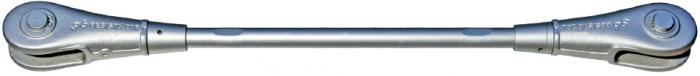 Zugstabsystem BESISTA mit Stabanker-Gabelköpfe und Abdeckhülsen