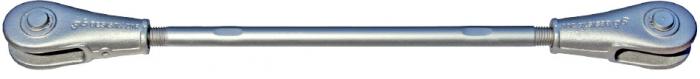 Zugstabsystem BESISTA mit Stabanker-Gabelköpfe ohne Abdeckhülsen