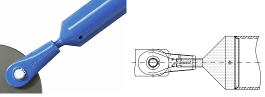 Compression rod connection with rod anchor and tube as compression rod system BESISTA