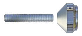 Compression rod connection BESISTA with higher-strength threaded-pins for timber compression rods