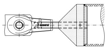 Two-part compression strut connection swivel and higher-strength threaded pin system BESISTA