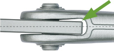 Rod anchor, fork head system BESISTA with patented balancing of axial offsets