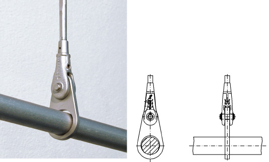 Suspension ring for suspending tension rods, tension bars system BESISTA