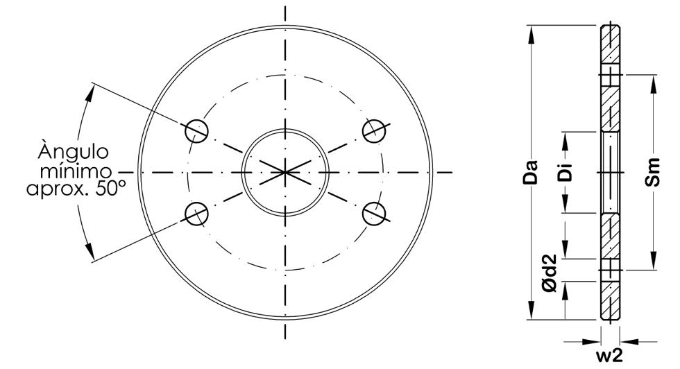 Disco circular para contravientos y arriostramientos sistema BESISTA