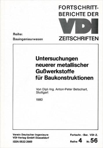 Betschart Anton-Peter, Dissertation �ber Grundlagen f�r Gusskonstruktionen