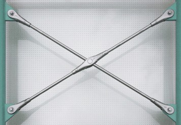 Cross anchor from BESISTA for contact-free crossing of the tension bars