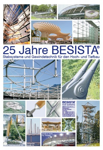 Poster 25 years of tension rod system/tension bar system BESISTA