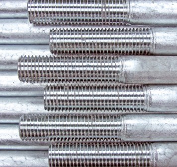 Tie rods/tension anchors BESISTA with a zinc coat on the rod threads