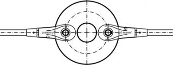 Disques de r�partition avec douille couvrante - Syst�me BESISTA
