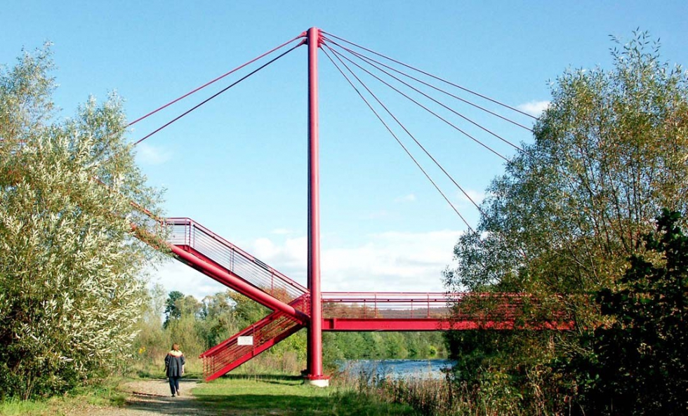Tension bar systems BESISTA for the steel construction of the bridge Redwitz