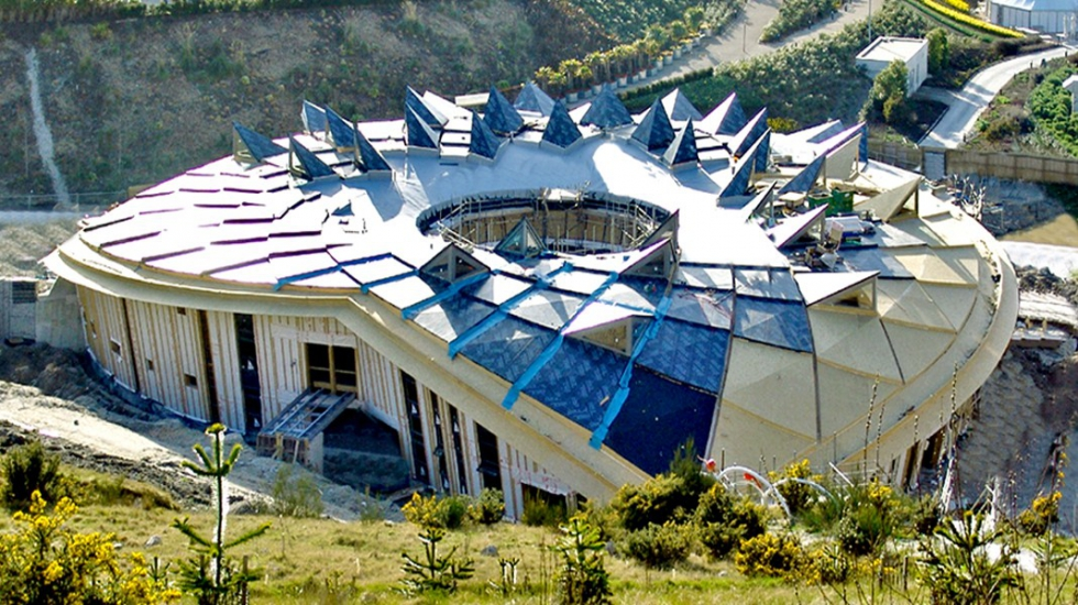 Syst�mes d\'haubanage BESISTA pour l\'Eden Project Cornwall Angleterre