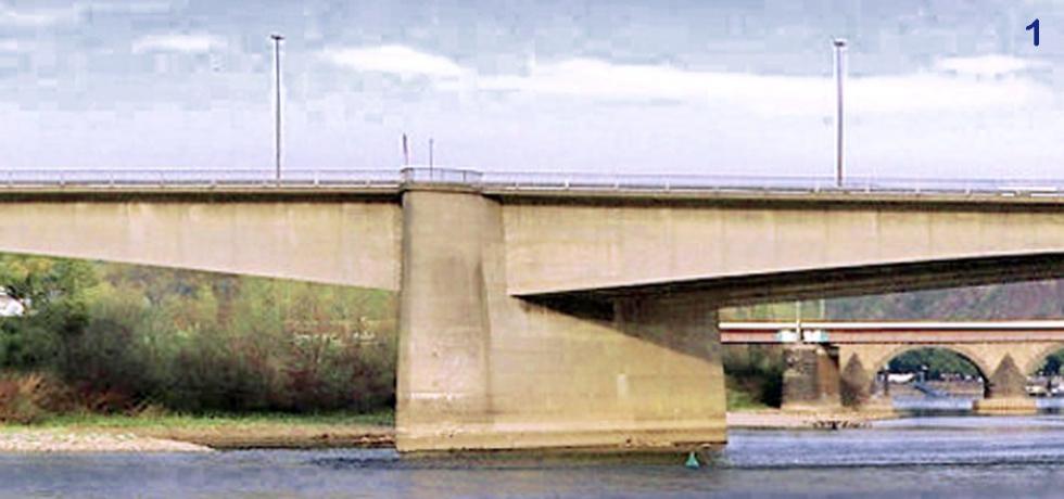 Tirants syst�me BESISTA dans le travail public pour la r�novation du Pont d\'Europe Koblenz