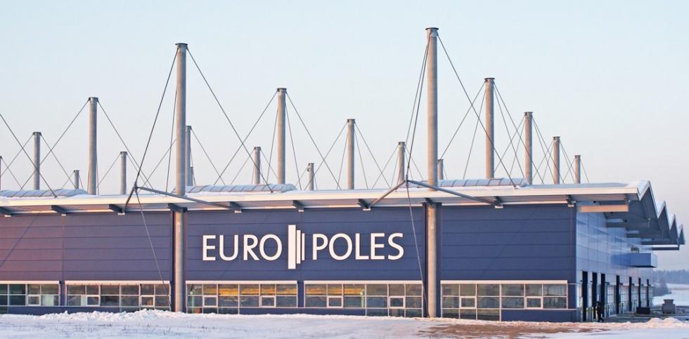 Atirantado sistema BESISTA para los tirantes - Europoles Konin, Polonia