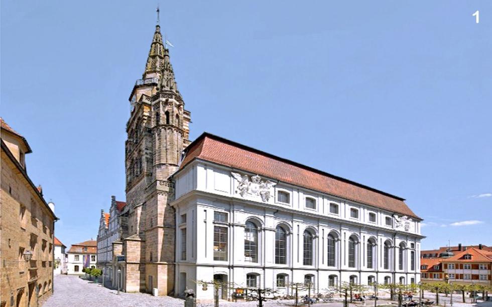 Tirantes BESISTA para la renovaci�n de la iglesia St. Gumbertus Ansbach