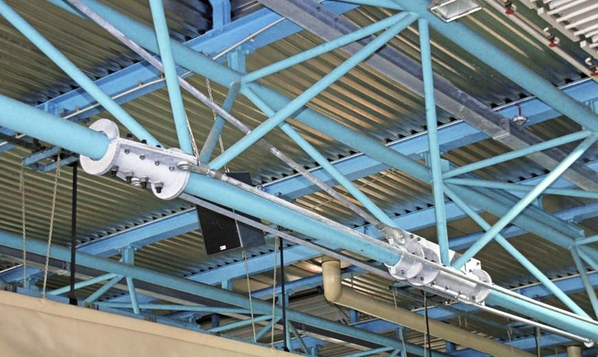 Tirantes sistema BESISTA para la renovaci�n del gimnasio Jahn Stockach