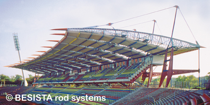 Tension systems from BESISTA for the bracings of the Wildpark Stadium, Karlsruhe - 99