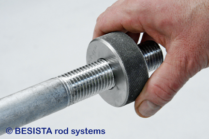 Checking the external threads on the tension and compression rods system BESISTA - 187