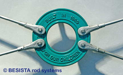 Customized system BESISTA circular disc with markings and tension ties - 270