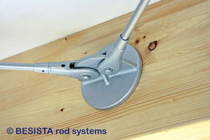 Anchor plate system BESISTA for timber for the fixation of tension rods/tension bars - 298