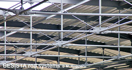 Tension and compression rod systems from BESISTA in the roof construction - 304