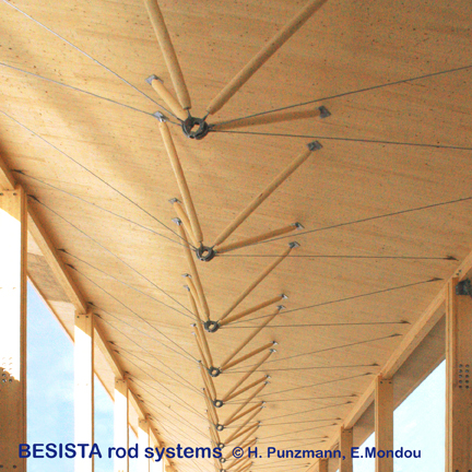 Compression rod connections from BESISTA for timber compression rods – 446