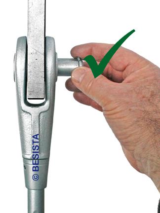 BESISTA installation instruction, insert the pin manually - 447