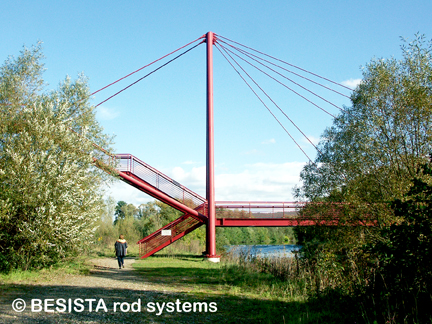 Tension rod systems BESISTA for the guying of the pylons - 482.6