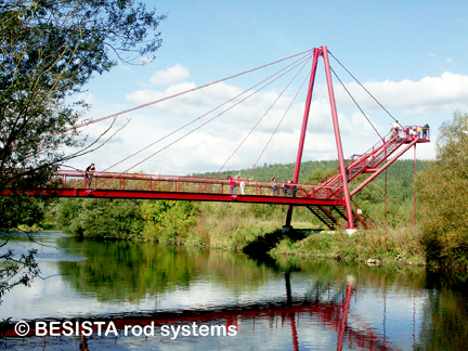 Tension rod systems BESISTA for the guying of the Rodach bridge, Redwitz - 482.7