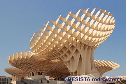 System BESISTA tension bar systems Metropol Parasol Sevilla, Spain - 556
