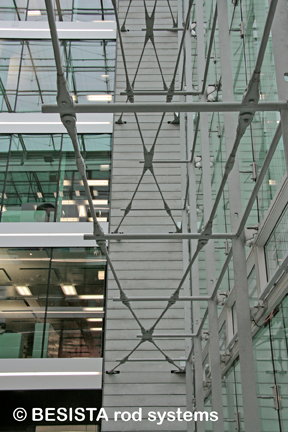 Tension rod systems BESISTA in facade engineering for PWC Parkside Zurich, CH - 573
