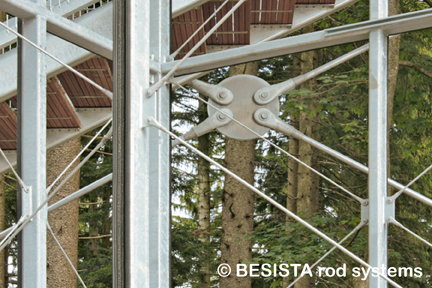Tension bars system BESISTA for wind bracings in the Skywalk Scheidegg - 587