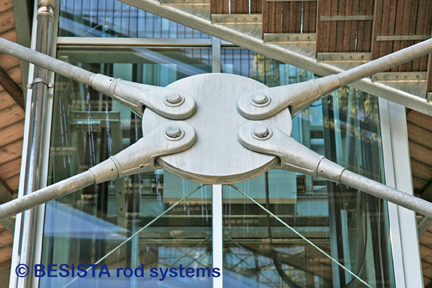 Tension bars with rod anchors system BESISTA for the steelwork of the Skywalk - 589