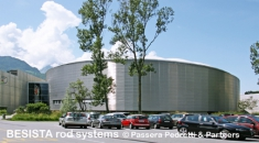 Tension rod systems BESISTA for the Velodrom world cycling centre Aigle, Switzerland - 125