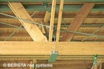 Tension members with rod anchors from BESISTA for the underpinning of timber trusses - 135