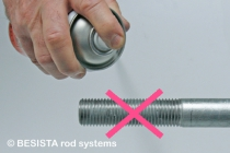 At BESISTA, there are no threads solely sprayed with zinc paint - 280