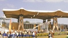Tension bar systems BESISTA in the Expo roof at International EXPO Hannover - 328